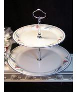 Vintage Lenox China Chinastone Poppies Blue Tiered Tidbit Pastry Cookie ... - $45.99