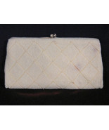 Vintage Richere Japan White Beaded Evening Bag Clutch or Purse - $24.99