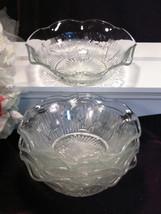 Vintage Jeannette Glass Iris Herringbone Depression Ruffled Berry Desser... - $59.99