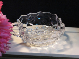 Vintage Fostoria Glass American Handled Small Square Bowl or Nut Dish, 1... - $16.99