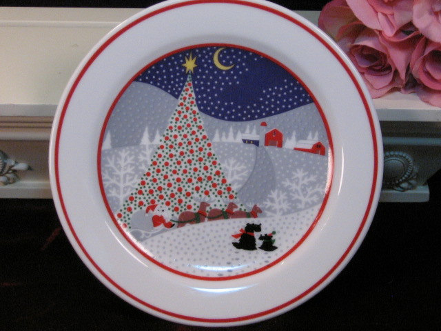 Primary image for Vintage Noritake China Twas The Night Before Christmas Lunch Salad Plate