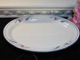 Vintage Lenox China Chinastone Poppies on Blue Large Oval Serving Meat P... - $99.99