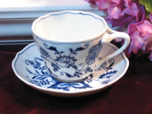 Vintage Blue Danube China Blue Cup and Saucer 1960s Mid Century Dinnerware & Vintage Blue Danube China Blue Cup and and 50 similar items