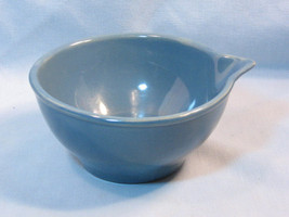 Vintage McCoy Pottery Blue Stacking Batter Bowl, 1960's Kitchen Bowl  - $49.99