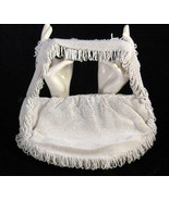 Antique Vintage White Koret Tresor Beaded Handbag or Purse, 1900 to 1930s - $59.99