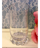 Vintage Imperial Glass Crystal Candlewick Flat Water Tumbler Glass, Sun ... - $14.99