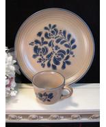 Vintage Pfaltzgraff Folkart Dinnerware Dinner Plate and Cup, Vintage Din... - $22.99