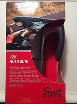 12 V Auto Mug JLR Gear Thermal Insulated 16 oz Stainless Steel NIB - $15.95