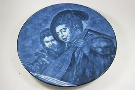 Vintage Blue Delft Musicerende Jongens Frans Hals Wall Plate - $217.80
