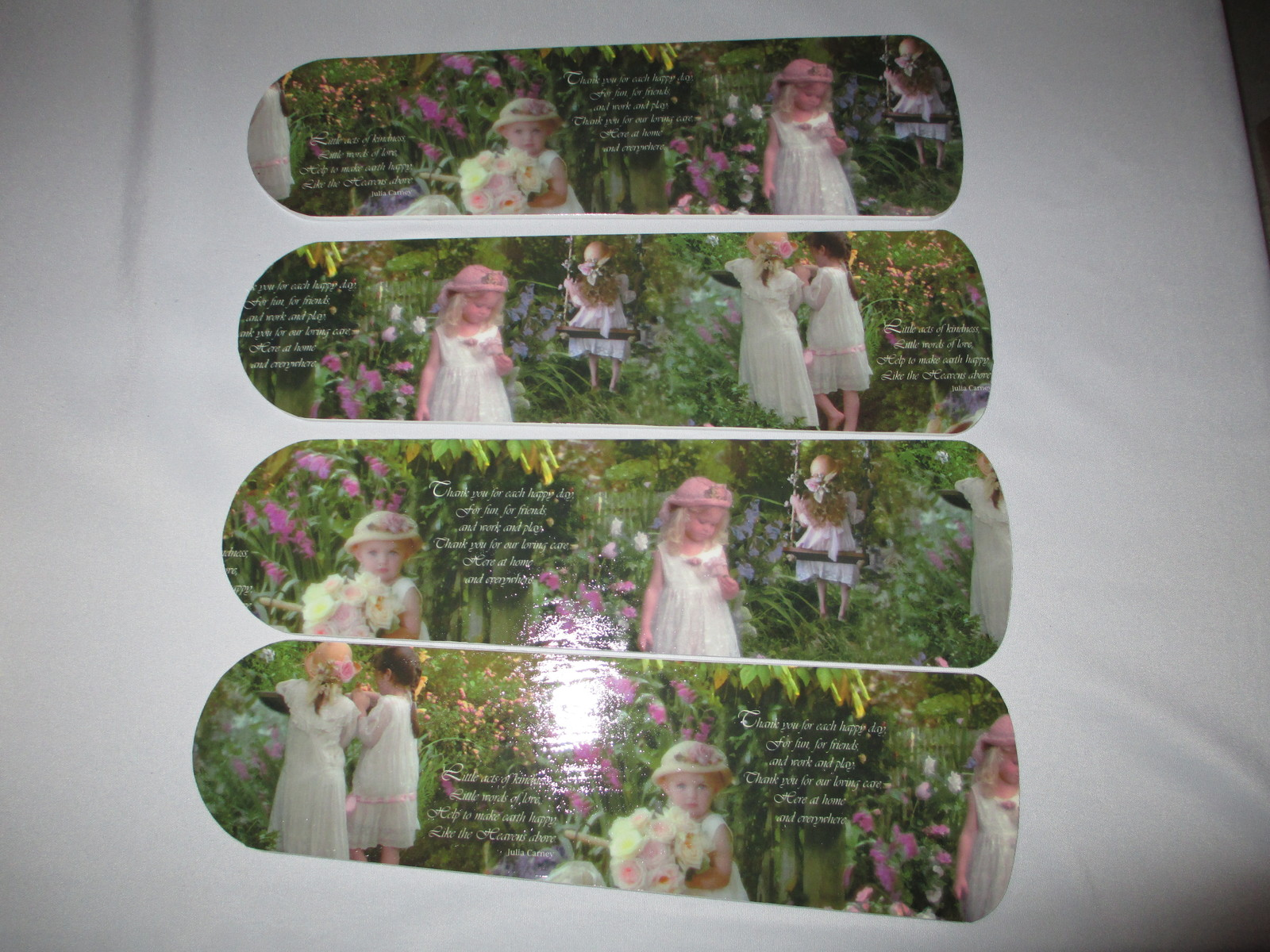 Primary image for CUSTOM~GORGEOUS GARDEN BABIES & GIRLS SISTERS PHOTOGRAPHIC CEILING FAN MUST SEE
