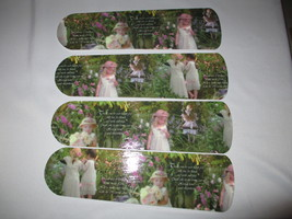 CUSTOM~GORGEOUS GARDEN BABIES & GIRLS SISTERS PHOTOGRAPHIC CEILING FAN M... - $89.99