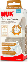NUK NATURE SENSE 120ml 0-6 months Best feeding Glass bottle with silicon... - $6.97