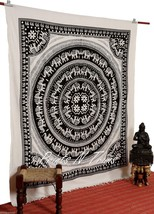 Large Elephant Mandala Tapestry Bohemian Wall Hanging Bedspread Beach Throw - $16.33