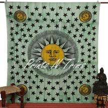 Large Good Morning Sun Tapestry Bohemian Sun Moon Wall Hanging Throw Man... - £11.71 GBP