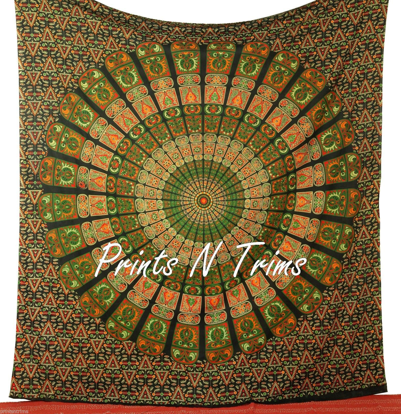 Large hippy wall hanging mandala tapestry throw bedspread for Fomic sheet wall hanging