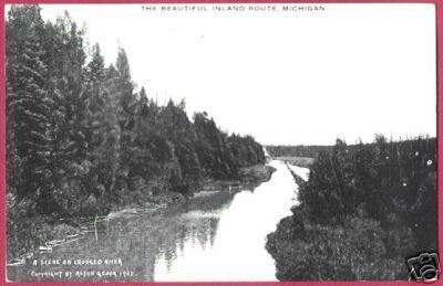 Primary image for Inland Route MI Indian River Crooked Postcard BJs