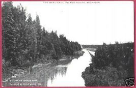 Inland Route MI Indian River Crooked Postcard BJs - $12.00
