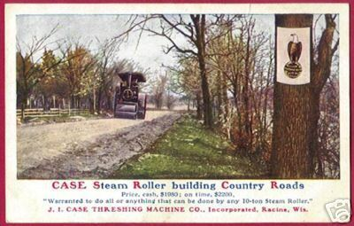 RACINE WISCONSIN Case Steam Roller Threshing 1909 WI