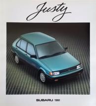 1991 Subaru JUSTY sales brochure catalog US 91 GL AWD - $6.00