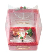 Lovinbox Christmas Box Hand Painted Santa Reindeer Tree  - $16.99