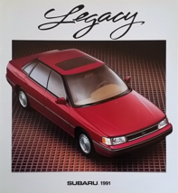 1991 Subaru LEGACY sales brochure catalog US 91 LS LSi Sport Sedan Turbo - $8.00