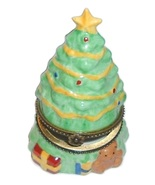 CHRISTMAS HOLIDAY Tree Hinged Trinket Box Collectible - $12.95