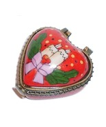 CHRISTMAS Holiday Heart Hinged Trinket Box Collectible - $7.95