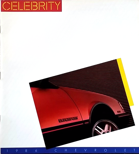 1986 Chevrolet CELEBRITY sales brochure catalog US 86 Chevy Eurosport