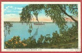 Manistee Mi Lke Passenger Boat Michigan Postcard BJs - $6.50