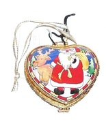 KELVIN CHEN Christmas Heart Santa Trinket Box Collectible - $14.99