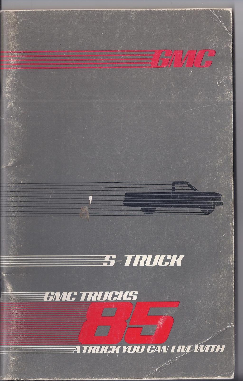 Primary image for 1985 GMC Truck & Coach Operation S15 Owner & Driver  Manual