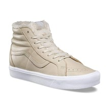 Vans Sk8 Hi Reissue Lite (Sherpa) Cement True White Faux Fur Warm Men's 8.5 - $59.95