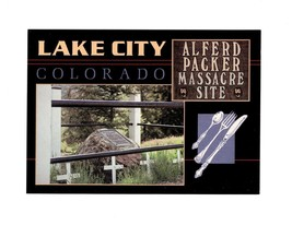 PICTURE POSTCARD - ALFRED PACKER CANNIBALISM MASSACRE SITE, LAKE CITY, C... - $2.94