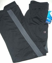 NWT Champion Authentic Big Boys Athletic Pants M Slate/Black Polyester NEW - $13.10