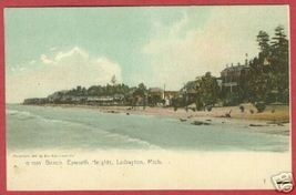 Ludington MI Epworth Heights Beach UDB Postcard BJs - $12.00