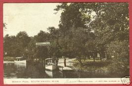 South Haven MI Midway Pk Boats UDB HC 1907 Postcard BJs - $12.00