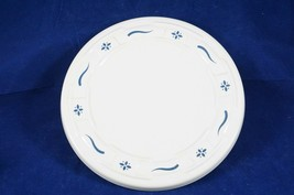 "Longaberger Pottery Woven Traditions Classic Blue 8.25"" Trivet Or Hot Plate USA - $9.28"