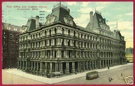 CINCINNATI OHIO PO Custom House City OH 1914 - $6.00