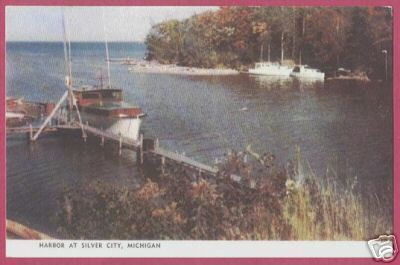 SILVER CITY MI Harbor Superior Ontanagon Postcard BJs