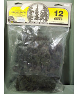 """NOS WOODLAND SCENICS 12 REALISTIC PINE TREES TR1082 - 6"""" TO 8"""" TALL CONI... - $18.99"""