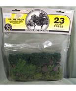"""NOS WOODLAND SCENICS 23 REALISTIC MIXED GREEN TREES TR1071 - 2"""" TO 3"""" DE... - $18.99"""