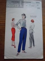 1960's Butterick Misses Pants Pattern Hip 37 Waist 28 # 6592 - $3.99