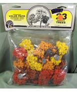 "NOS WOODLAND SCENICS 23 REALISTIC FALL COLOR TREES TR1076 - 2"" TO 3"" DEC... - $17.99"