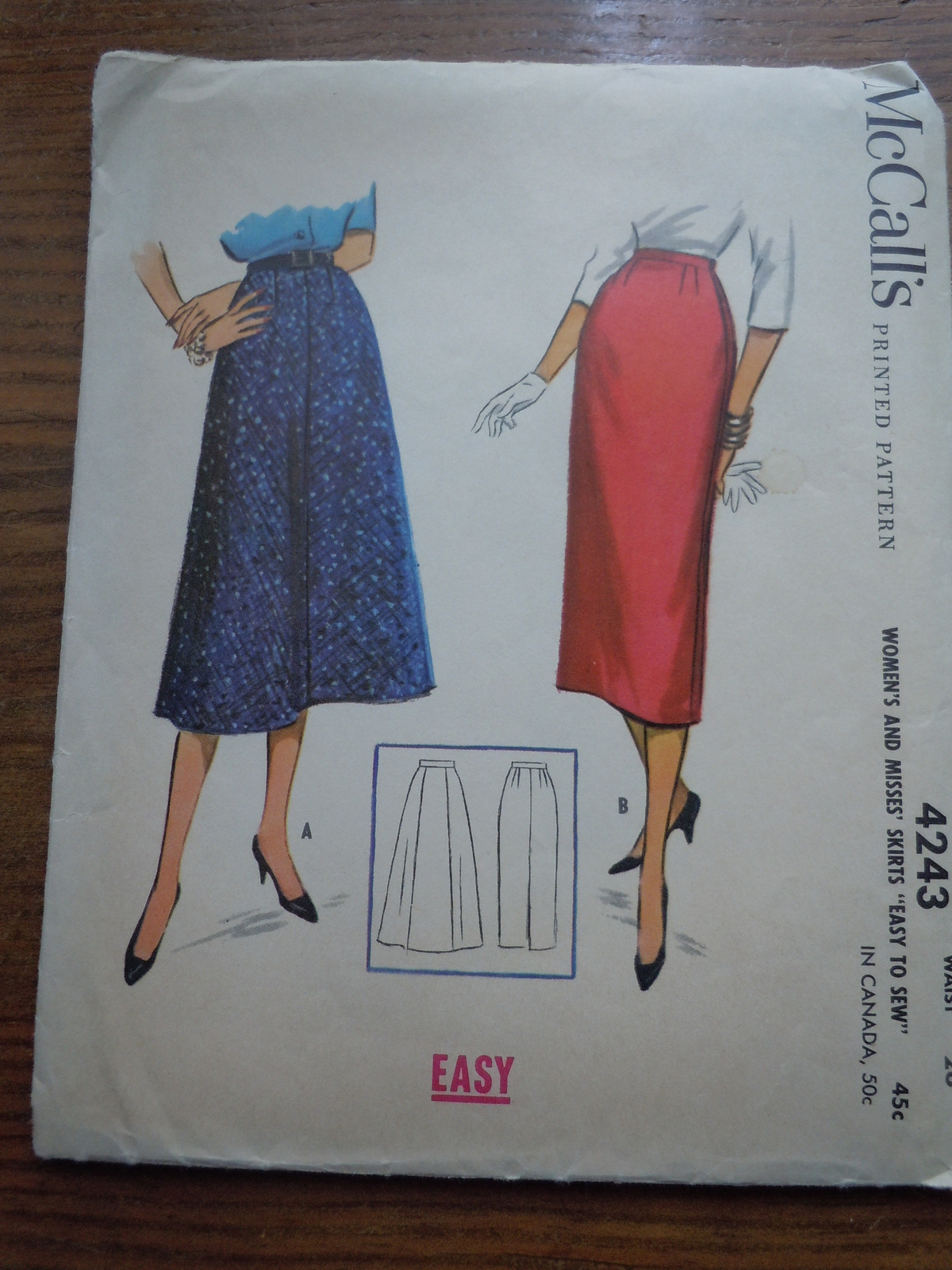 Primary image for Vintage McCall's Misses Skirt Pattern # 4243  1957