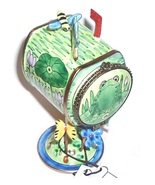 KELVIN CHEN Frog Spring Mailbox Stamp Holder Collectible - $25.99