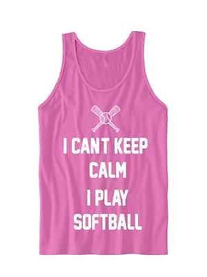 Primary image for SOFTBALL TANK TOP I PLAY SOFTBALL LADIES TANKS TEE TEES CHEAP GIFTS WOMENS TOPS