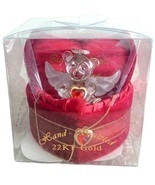 VALENTINE Red Lovinbox Angel Bear Hugs Box Gilded 22K - £18.45 GBP