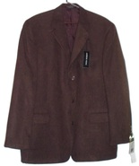 Andrew Fezza Brown Poly Suede Sport Coat Jacket 46L NWT  - $59.00