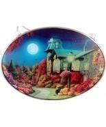 Edenborough Hand Made Glass Suncatcher Halloween MOONLIGHT - $9.99