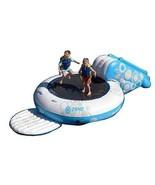 Water Trampoline Bouncer Sports XL Platform Jump w/ Splash Slide & Ancho... - $367.65